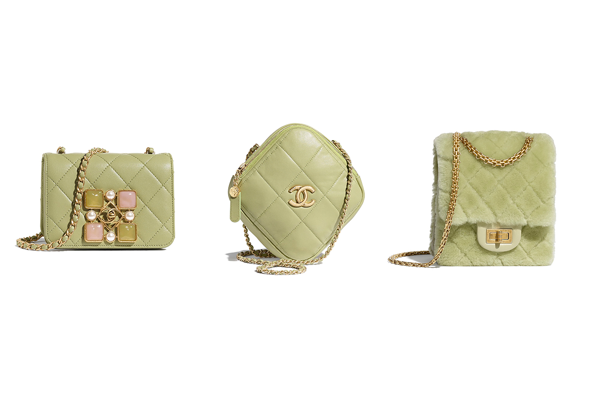 Chanel 2020 Fall Winter Handbags Chanel Flap Bag Diamond Bag 2.55 Bag Avocado Green Handbag Trends 2020