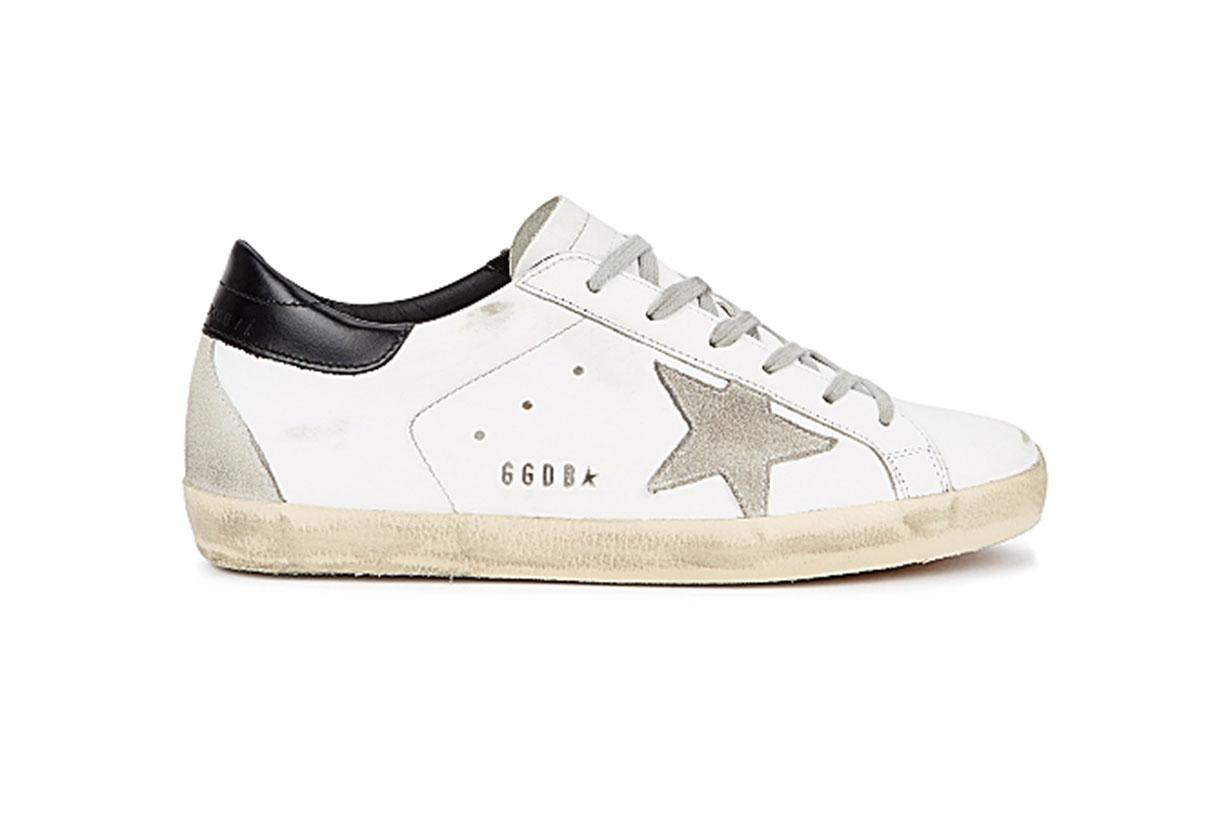 GOLDEN GOOSE DELUXE BRAND  Superstar distressed leather sneakers
