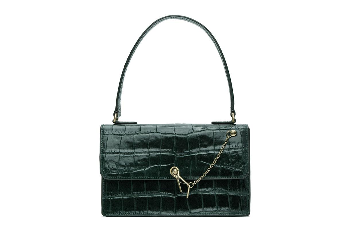 Green Croc Jackie Bag