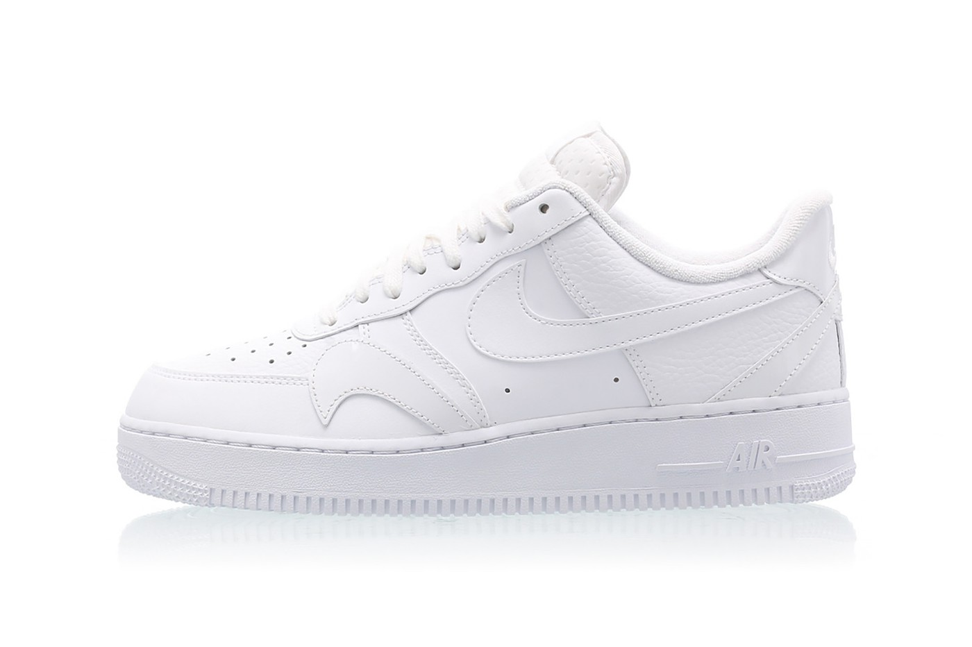 Nike Air Force 1 Low LV8 White Swoosh Sneakers