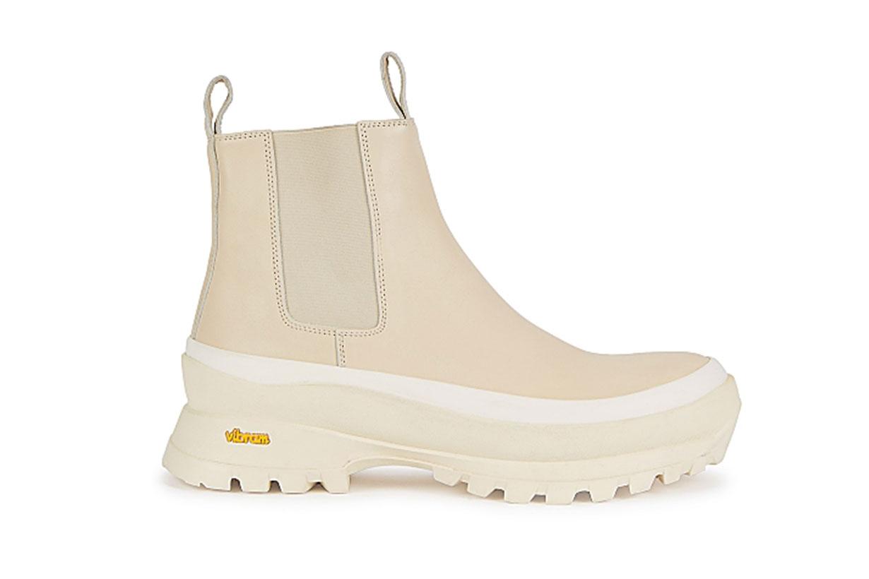 JIL SANDER  50 blush leather ankle boots