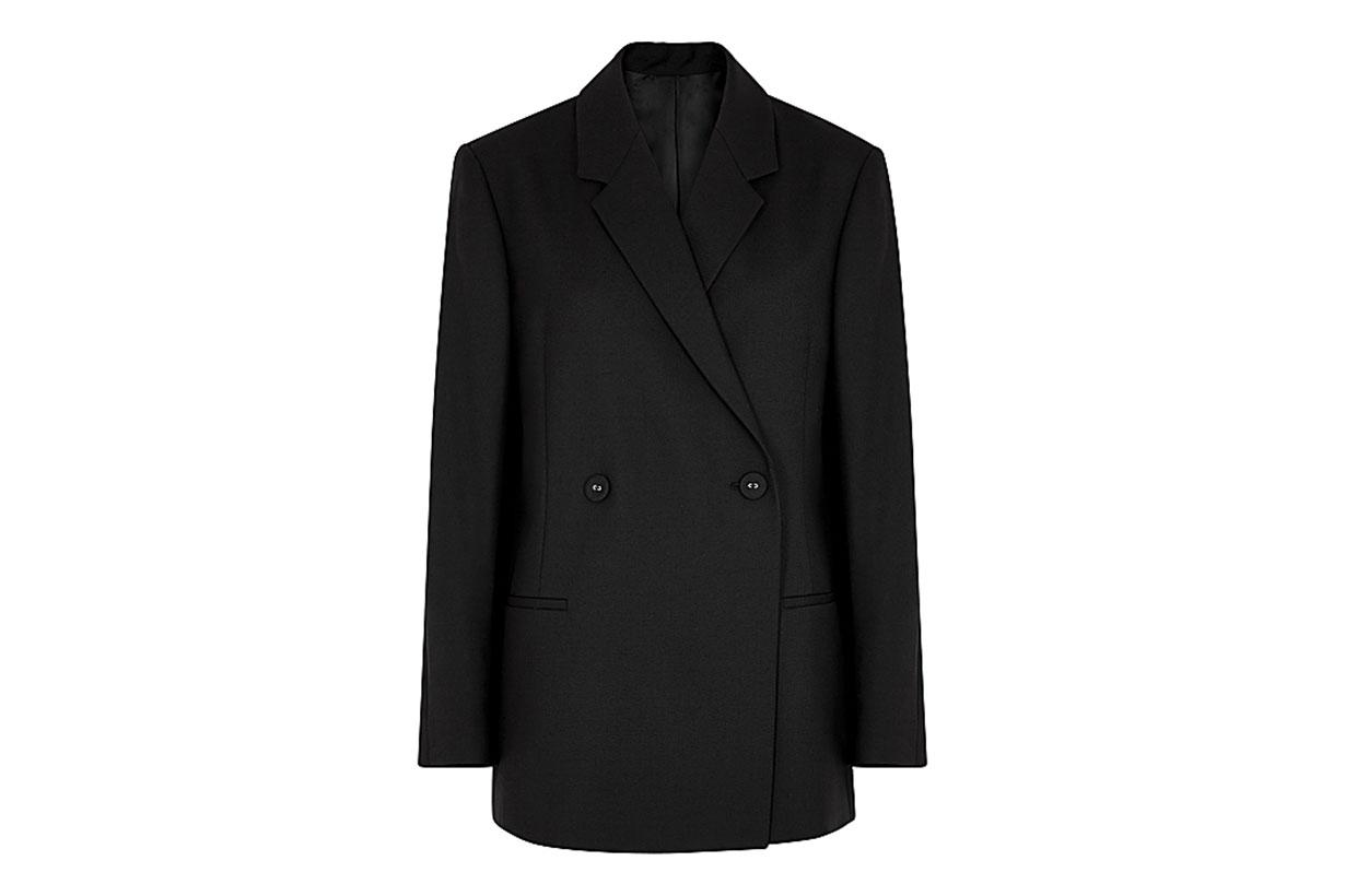 Loreo black double-breasted blazer