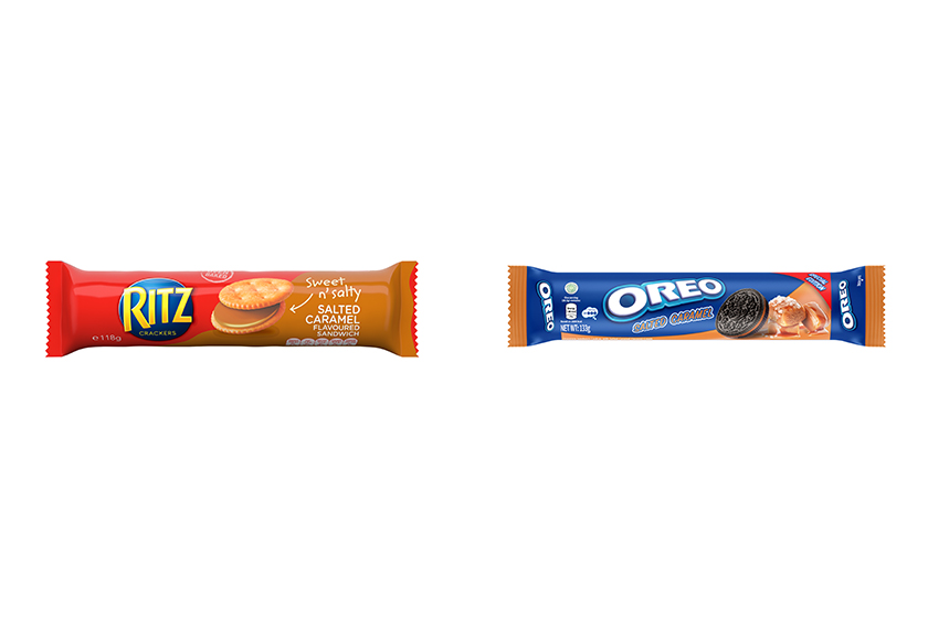 OREO Vs RITZ Salted Caramel flavored Cookies