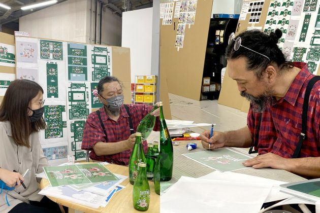 Takashi Murakami perrier sparkling water limited edition package