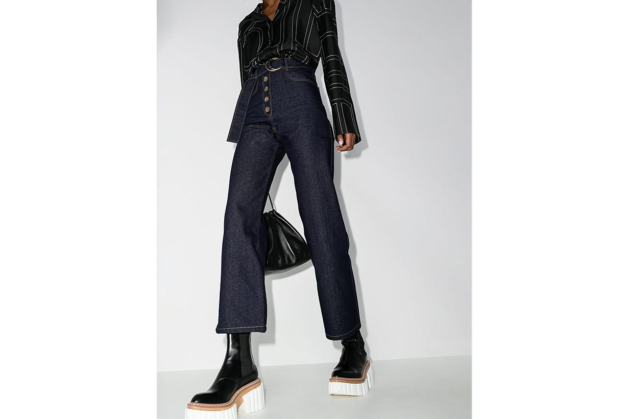 Rejina Pyo Emily Belted Wide Leg Jeans
