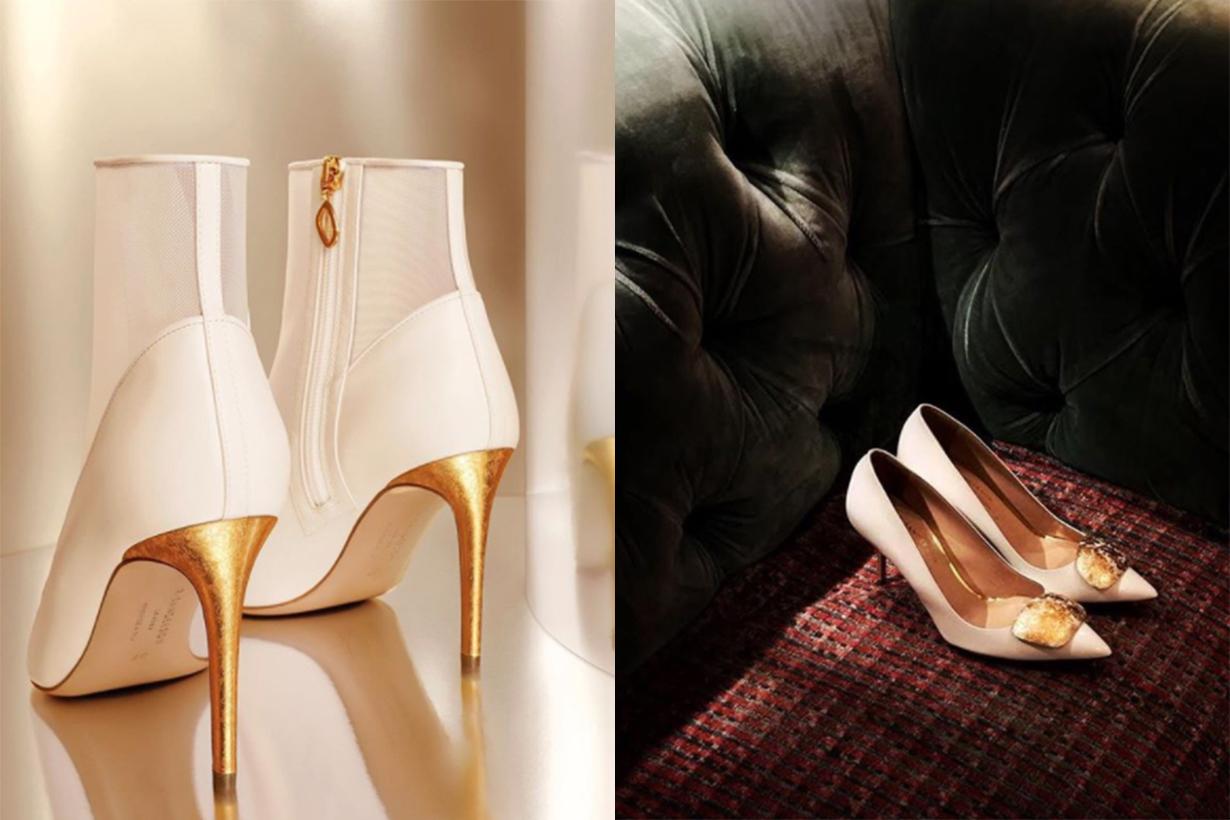 Sauvereign Shoe Brand 24K Gold Heels