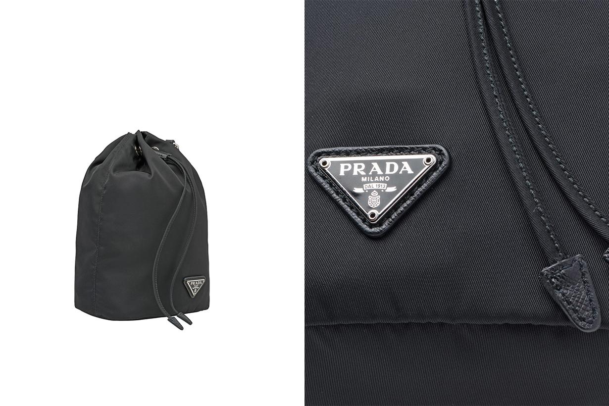 prada nylon pouch mini bags