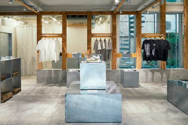 new balance tokyo t-house limited all white store shopping