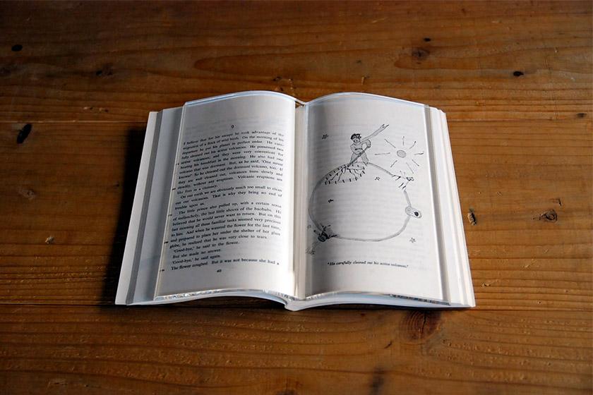 TENT BookOnBook Transparent book cover japanese design