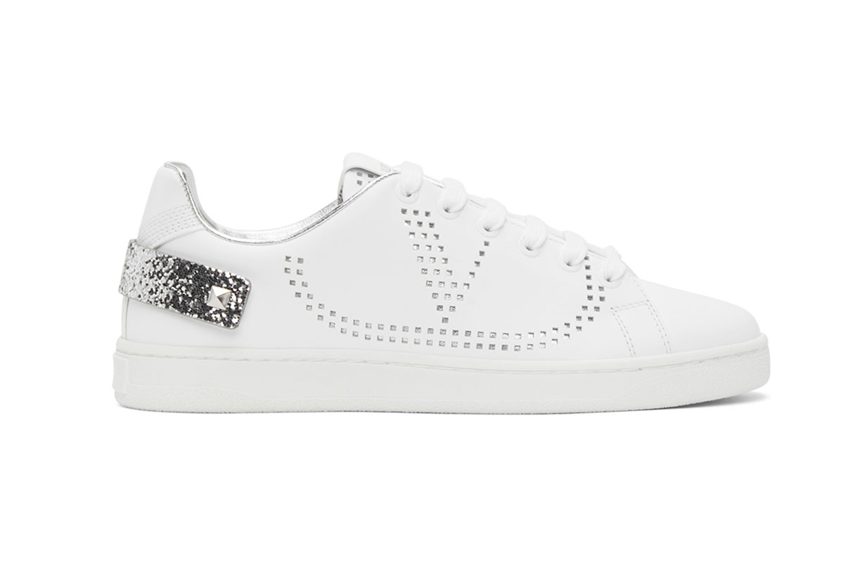 Valentino White Valentino Garavani VLogo Backnet Sneakers