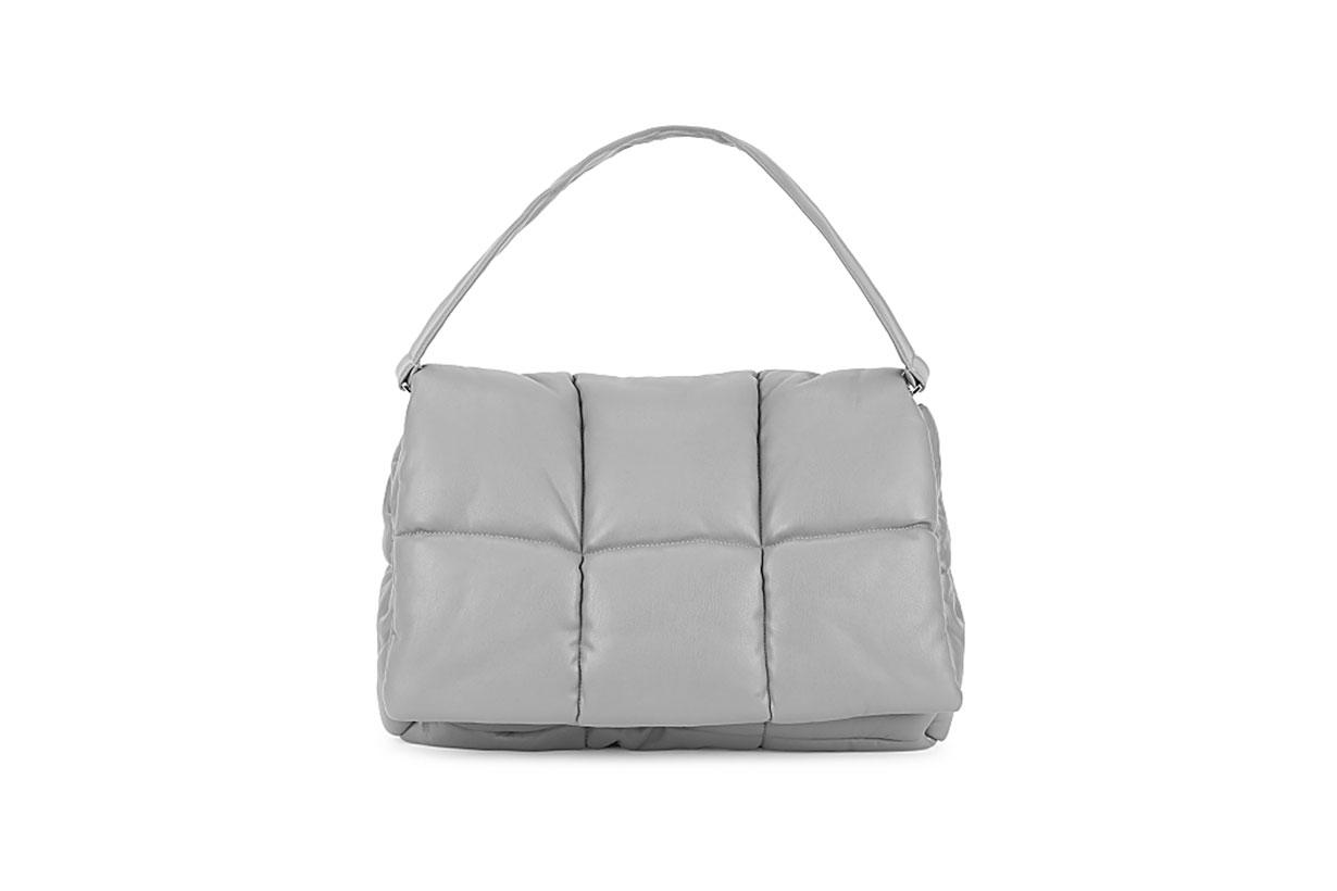 Wanda grey padded clutch