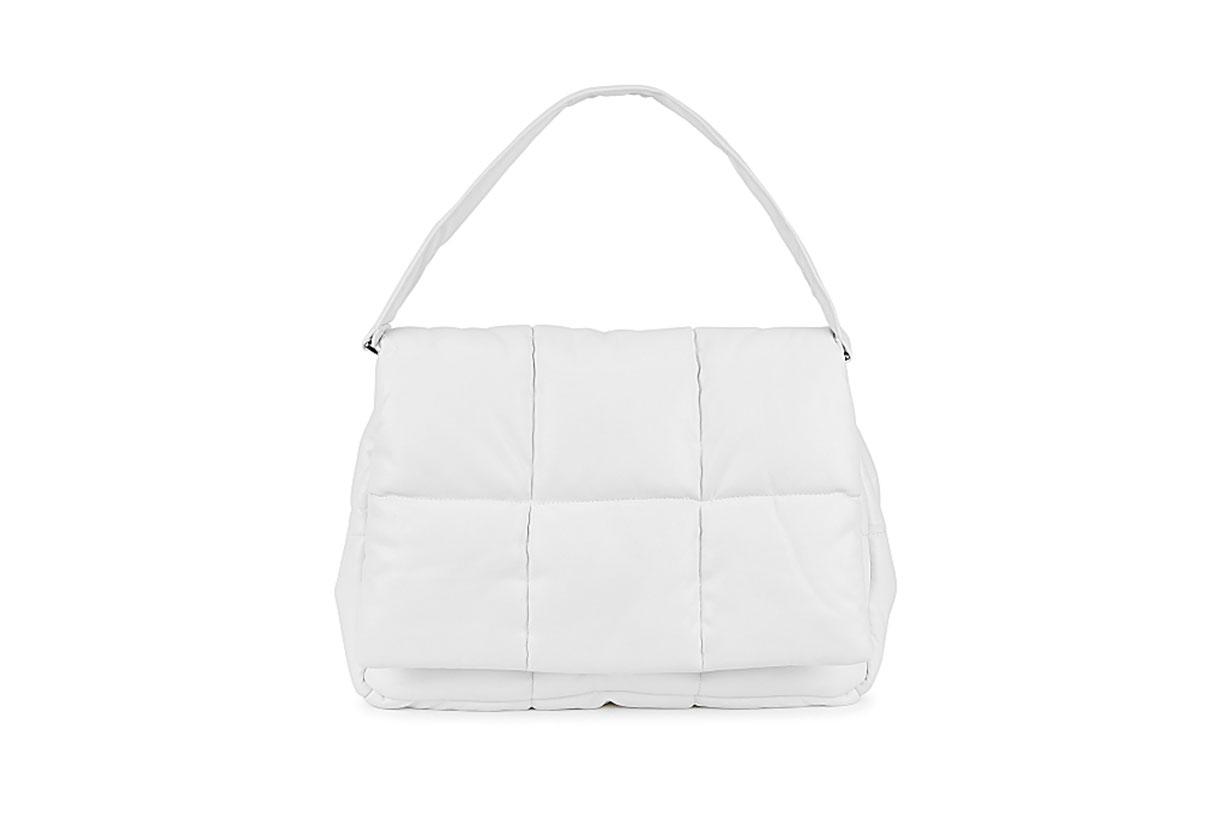 Wanda white padded clutch