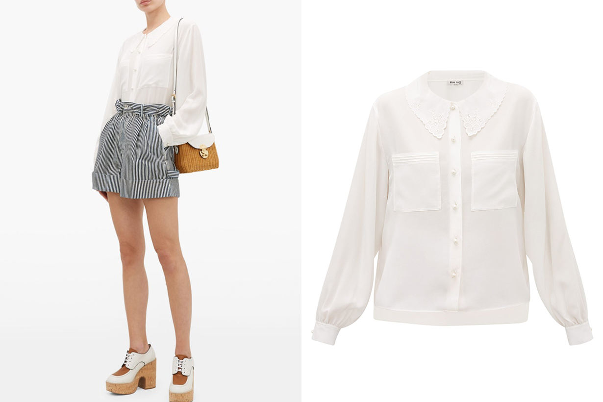 White Shirt Ruffle Collar Peter Pan Collar Shirt 2020 Fall Winter Fashion Trends Fashion Items