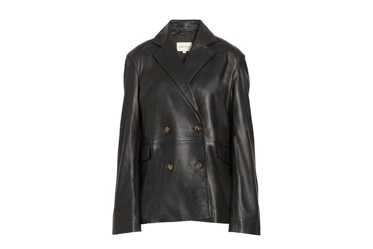 kaia gerber fall leather blazer trend 2020