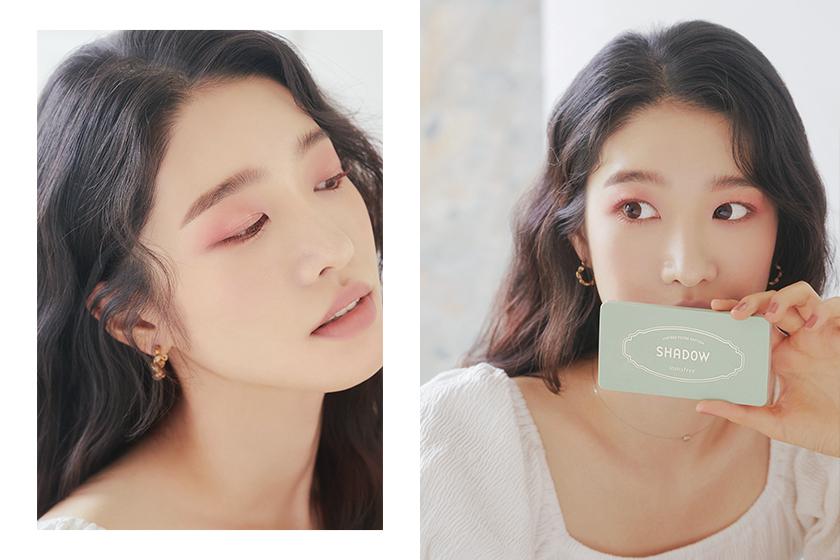 Innisfree vintage filter makeup eyeshadow lipstick highlighter