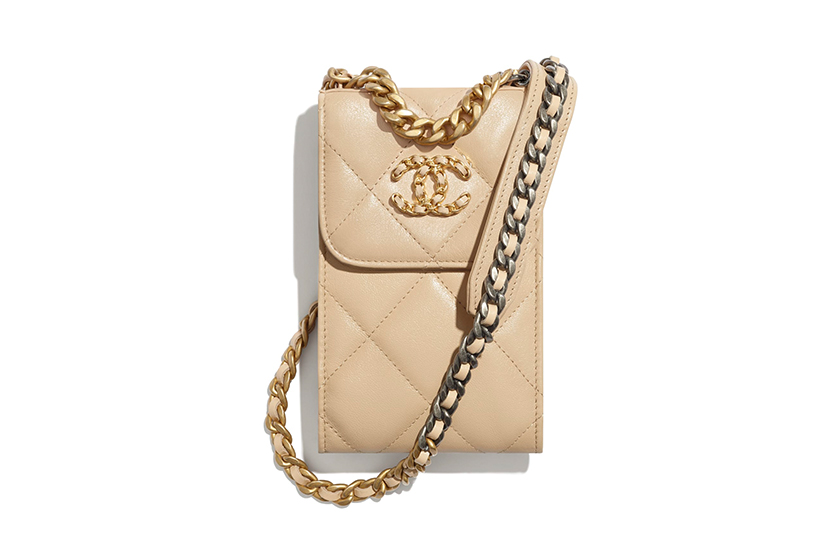 Chanel Clutch With Chain Mini Handbag Milk Tea Color