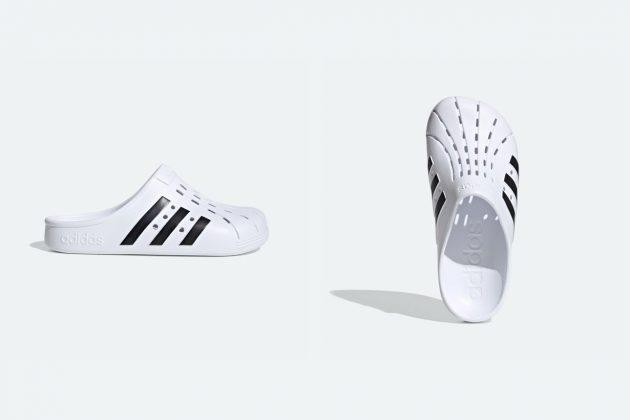 adidas clogs 2020 Adilette white black where buy