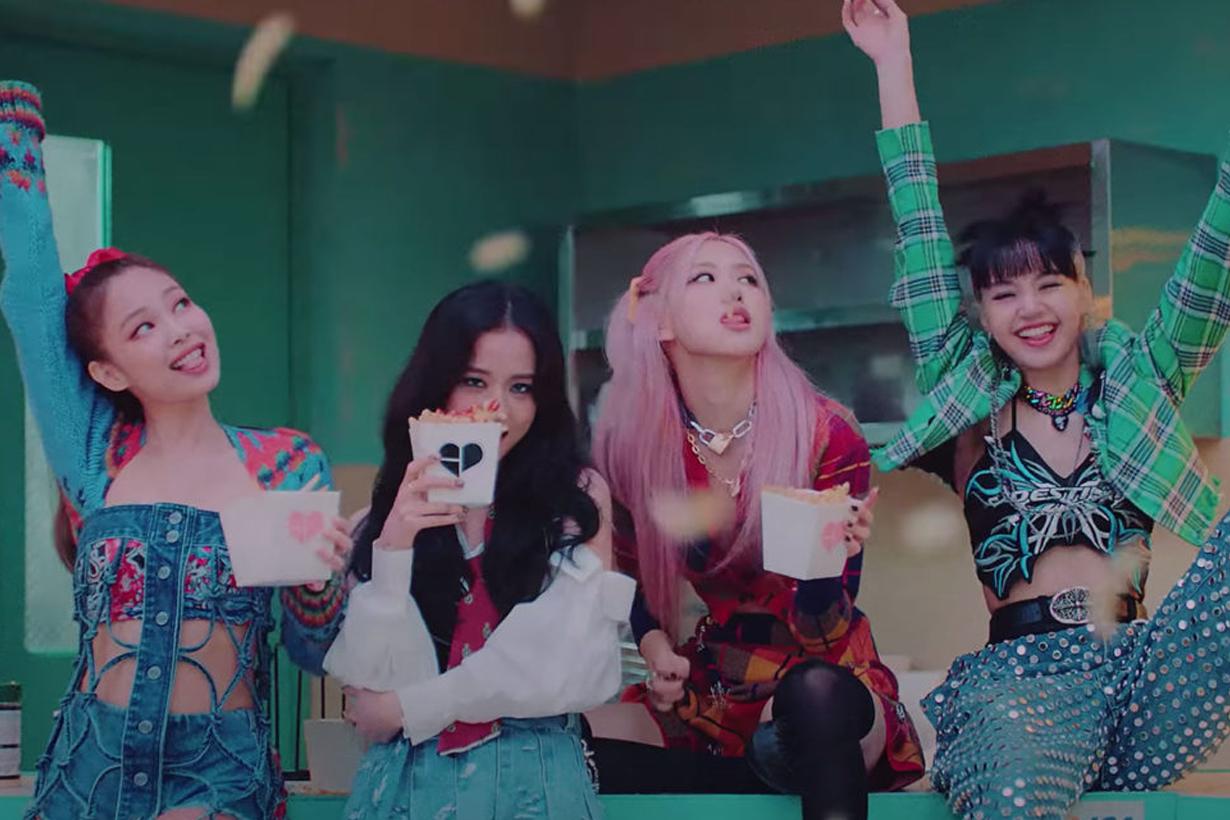 BLACKPINK Jennie Lisa Jisoo Rose The Album Lovesick Girls How You Like That Ice Cream Selena Gomez Bet You Wanna Cardi B Korean idols celebrities singers girl bands