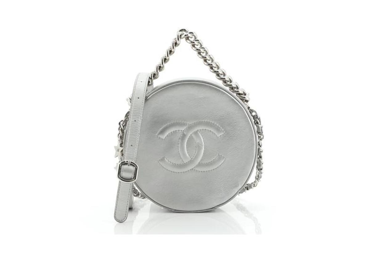 Chanel Round as Earth Crossbody Bag Glazed Calfskin