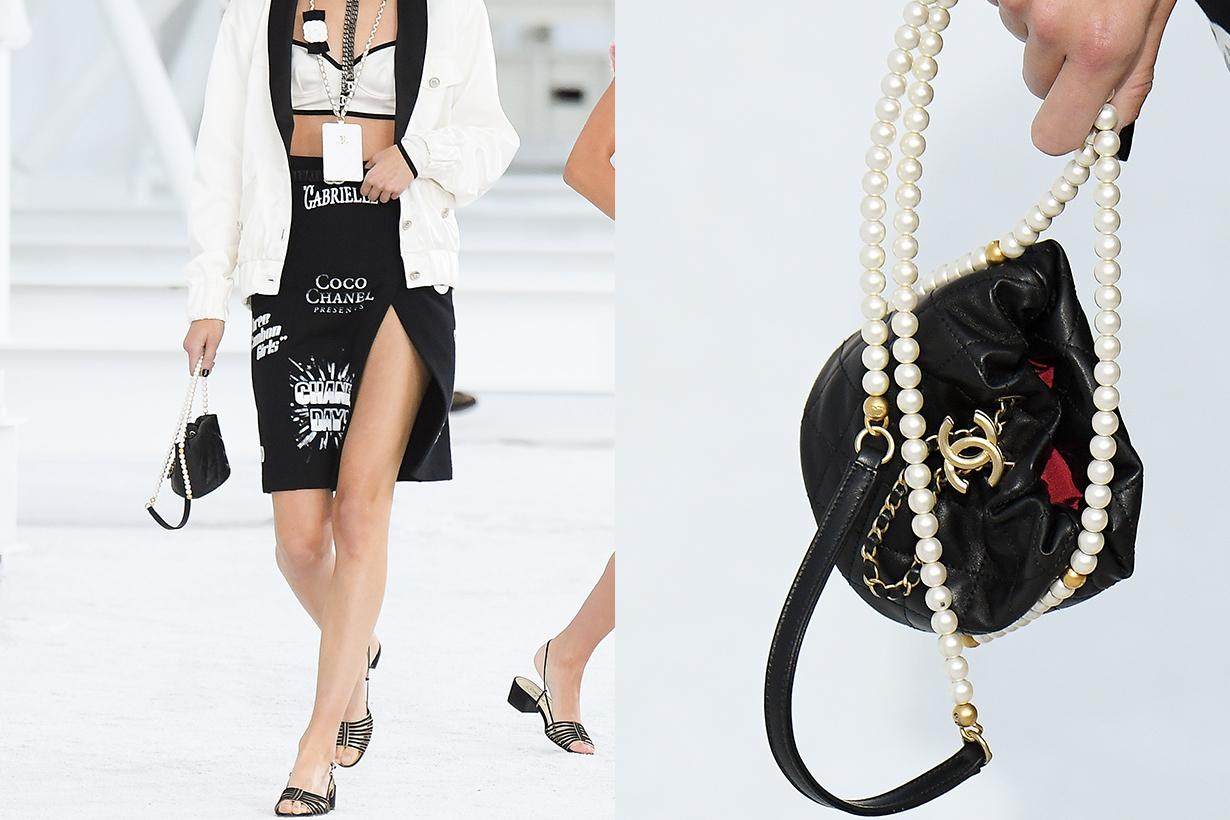 Chanel 2021ss Paris fashion week pearl handbags pfw