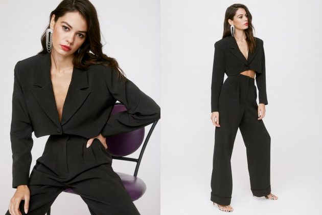 Emily Ratajkowski nasty gal suit street snap $75 affordable price