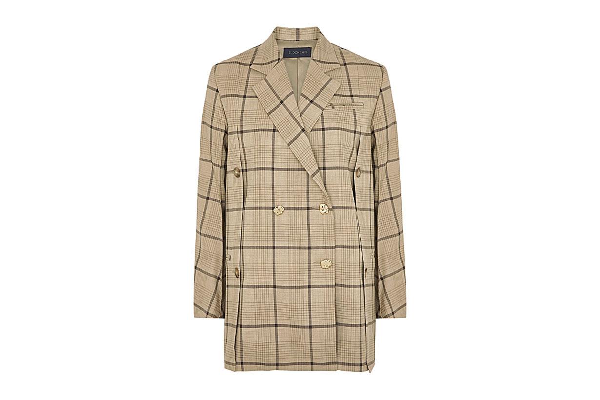 EUDON CHOI  Beatrice checked stretch-wool blazer