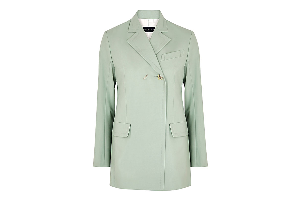EUDON CHOI Mairin mint stretch-wool blazer