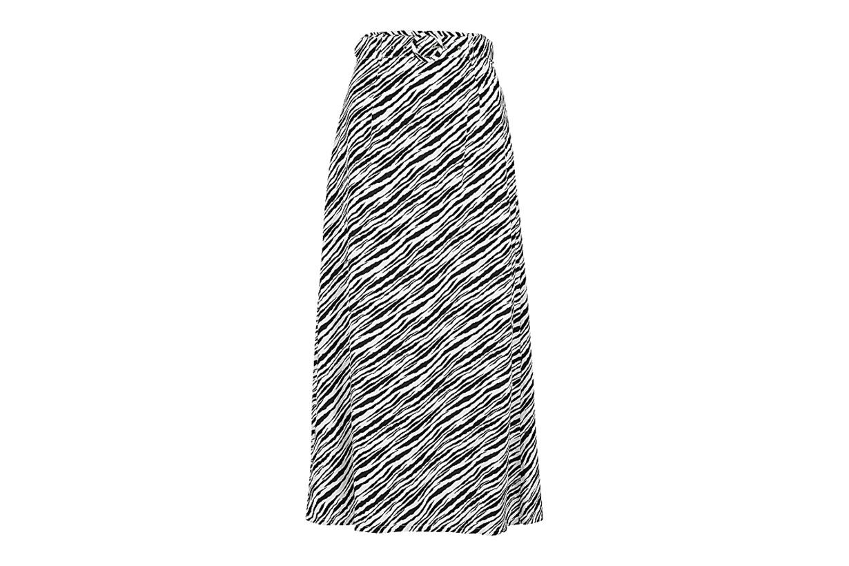 FAITHFULL THE BRAND Librisa zebra-print midi skirt
