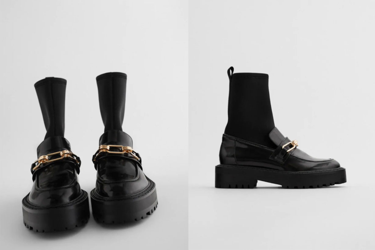FLAT SOCK-STYLE LOAFER ANKLE BOOTS TRF