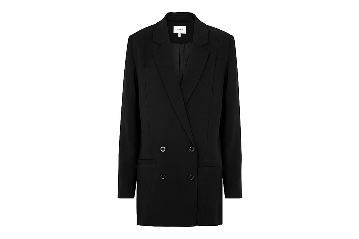 GESTUZ Joelle black double-breasted blazer