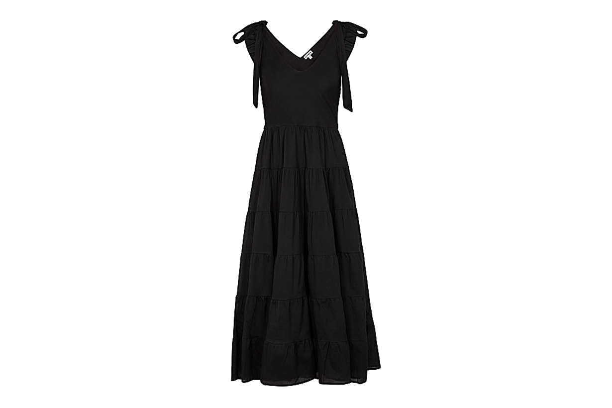 GIMAGUAS Elise black cotton maxi dress