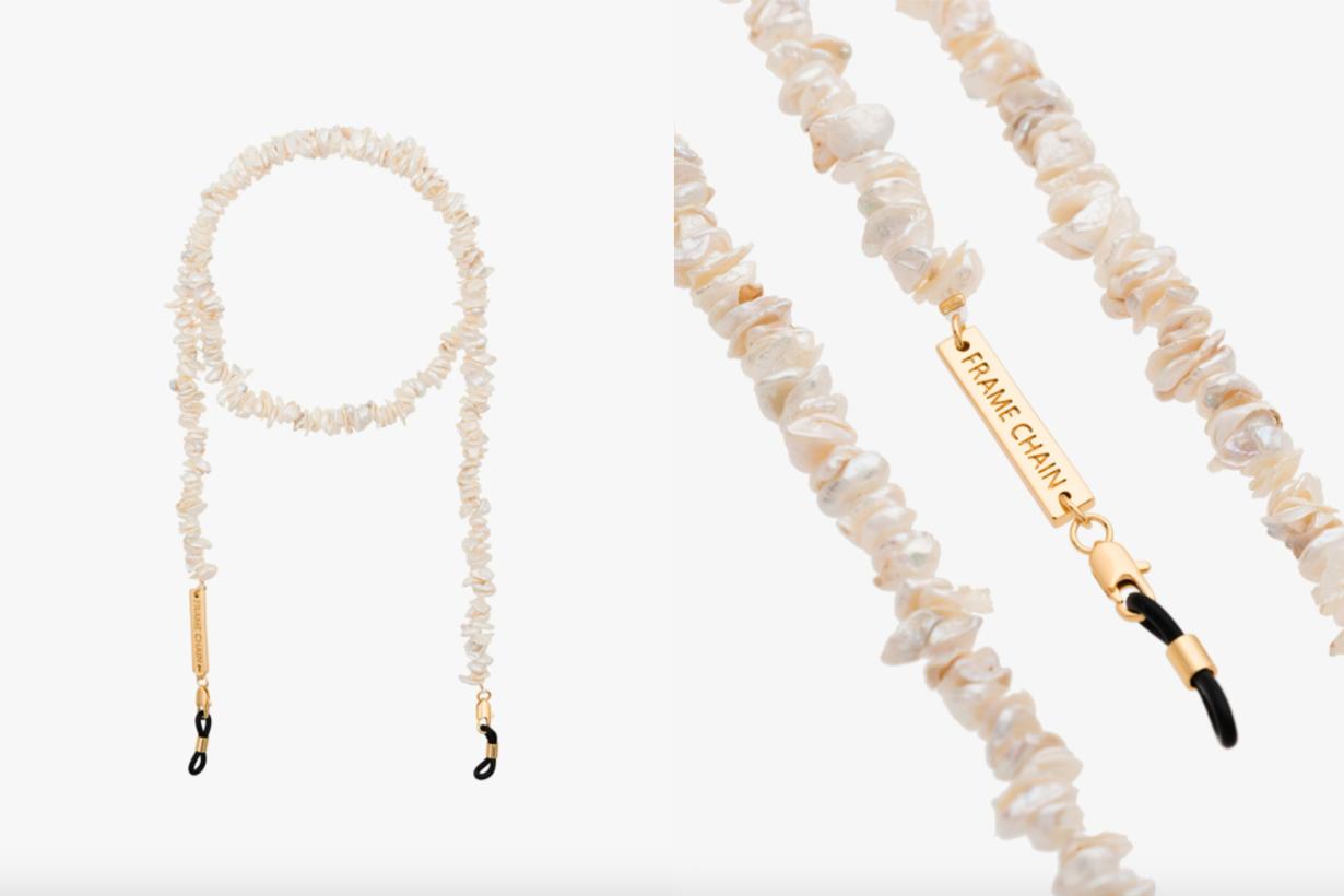 Gold-Plated Teenage Kicks Pearl Glasses Chain