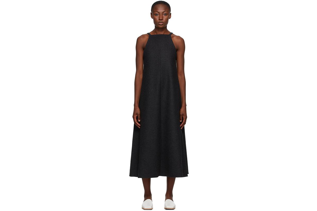 Grey One-Piece Long Dress