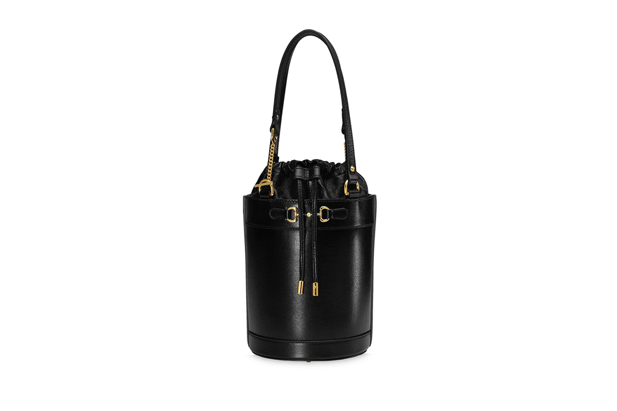 Gucci 1955 Horsebit leather bucket bag 2020 Fall Winter Handbag Trend Runway