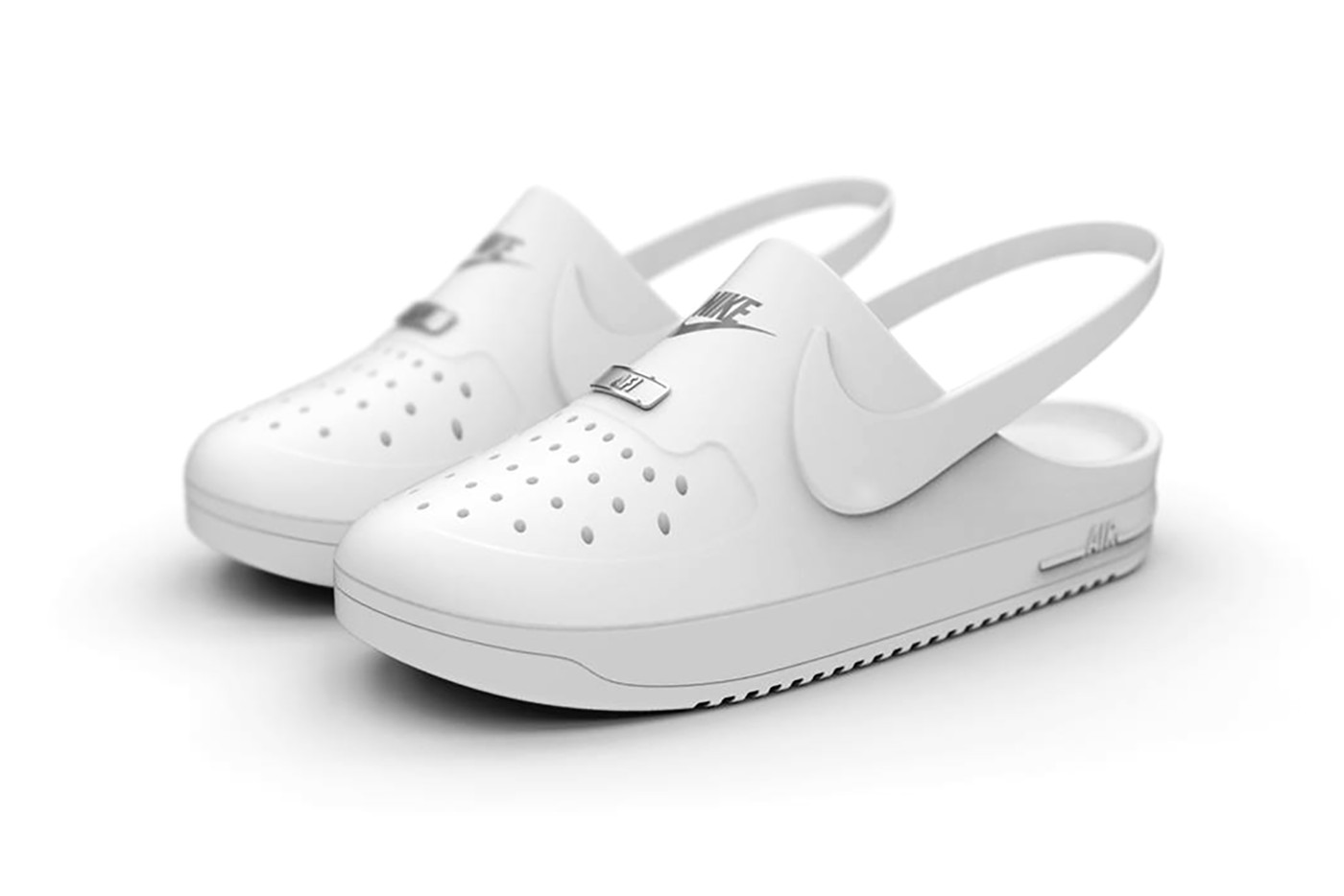 nike crocs collaboration air force 1 clogs hybrid unofficial Keegan McDaniel shoes design
