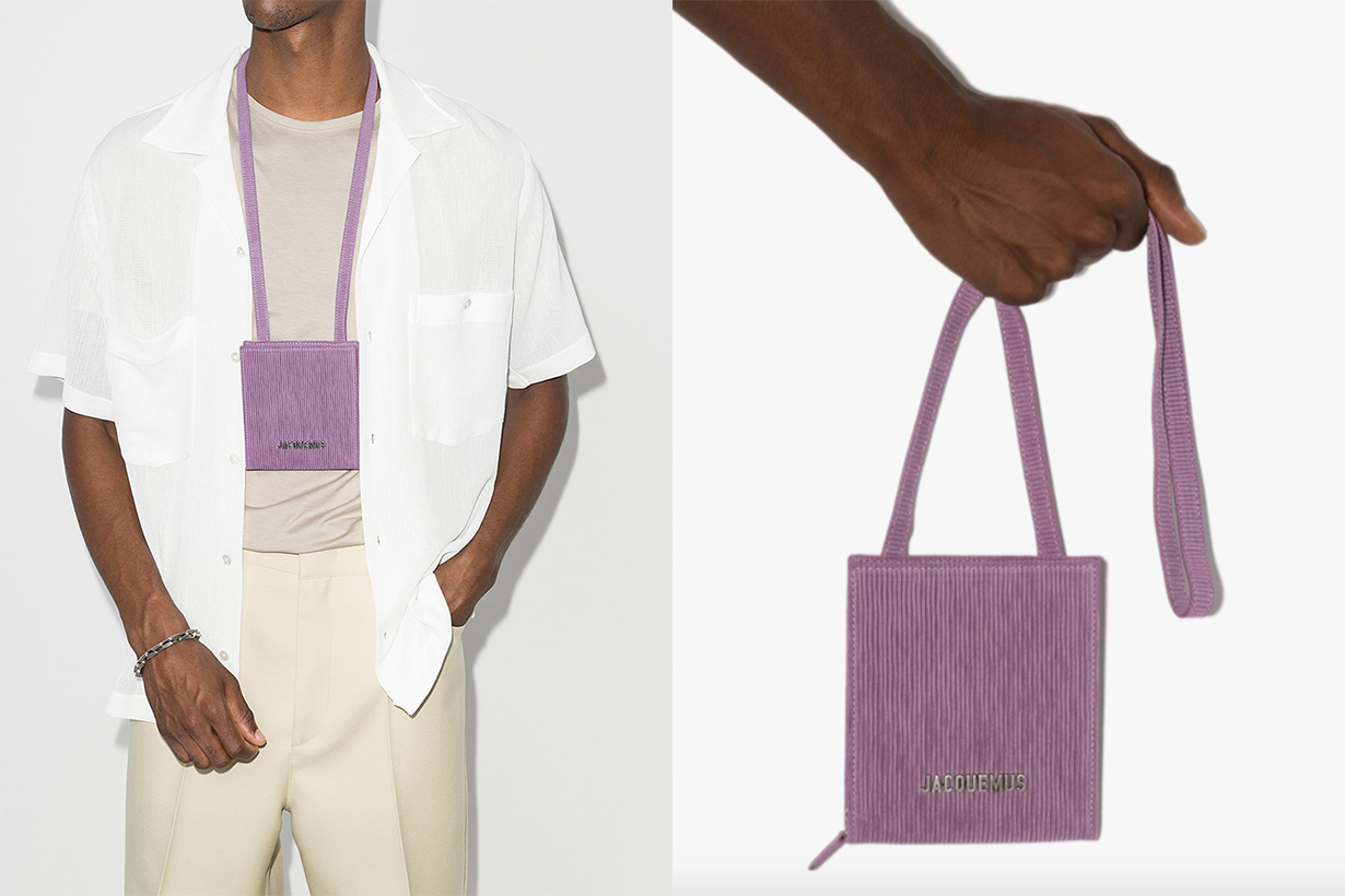 Jacquemus Purple Le Gadjo Pouch Shoulder Bag