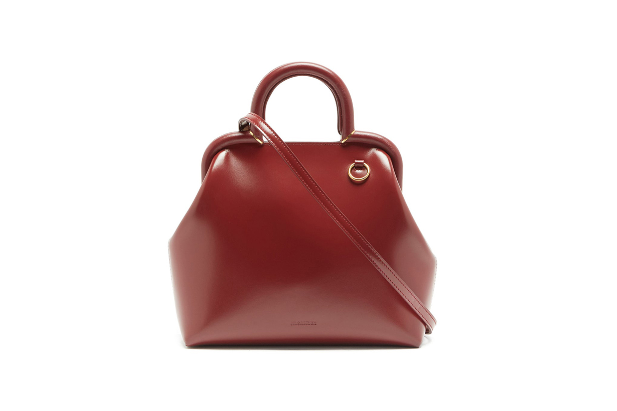 JIL SANDER Logo-debossed small top-handle leather handbag
