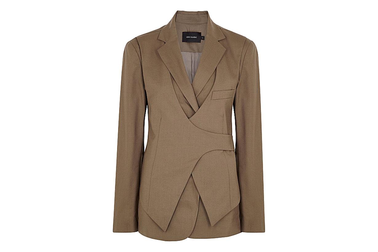 LOW CLASSIC Brown layered wool blazer