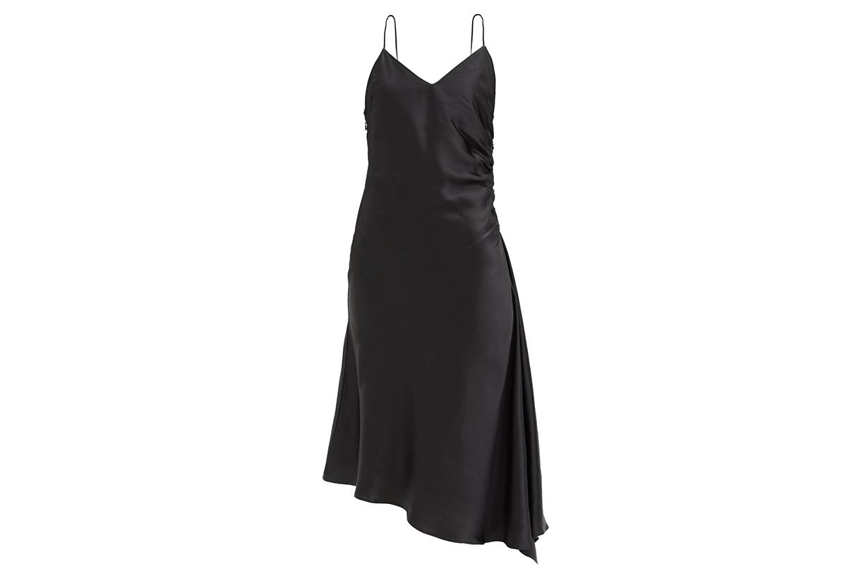MM6 MAISON MARGIELA Ruched satin slip dress