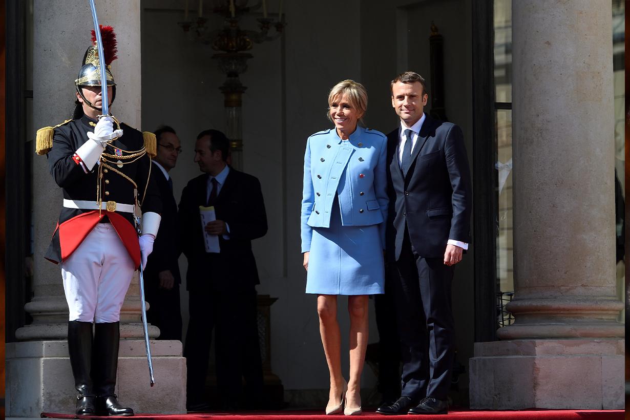 President of France Emmanuel Macron Brigitte Trogneux Celebrities couples Love Story Love Wisdom French People Love Emily in Paris Netflix Lily Collins