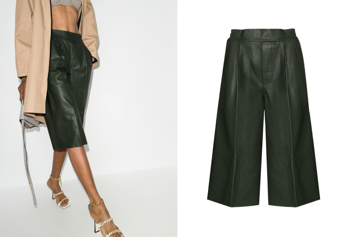 Remain Duchesse Leather Culottes