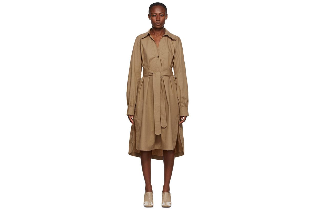 Rika Studios Khaki Fonda Trench Dress