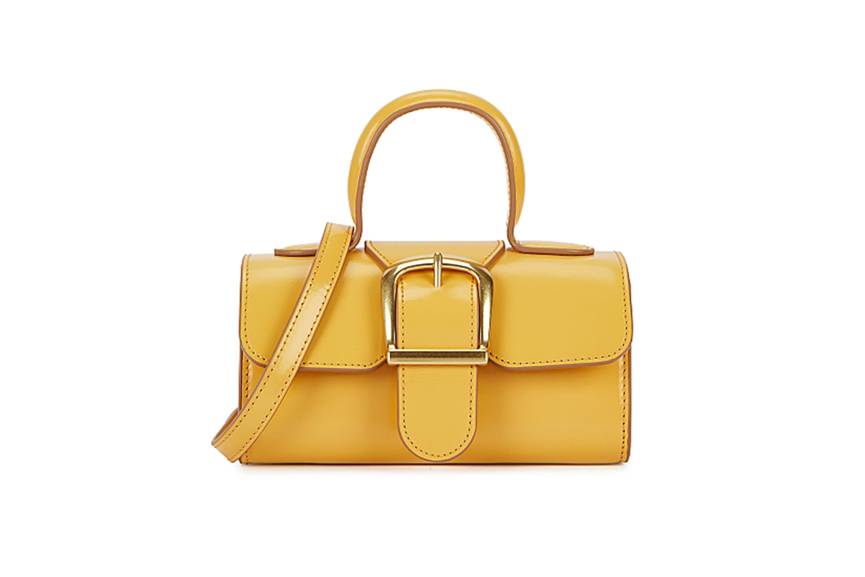 RYLAN  3.17 mini yellow leather top handle bag