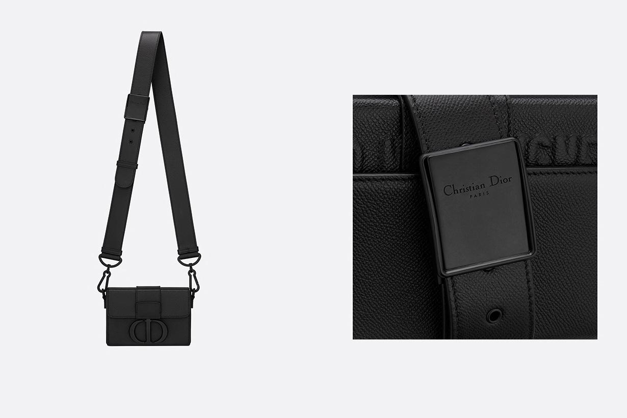 dior 30 montaigne box bag black ultramatte grained calfskin handbags