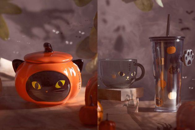 starbucks halloween singapore limited mugs cat lover 2020