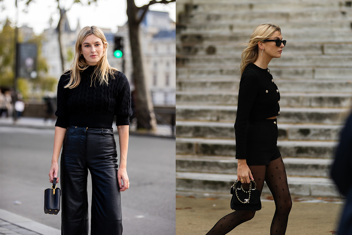 Camille Charriere seen wearing a complete Chanel look outside Chanel during Paris Fashion Week - Womenswear Spring Summer 2021 : Day Nine on October 06, 2020 in Paris, France.