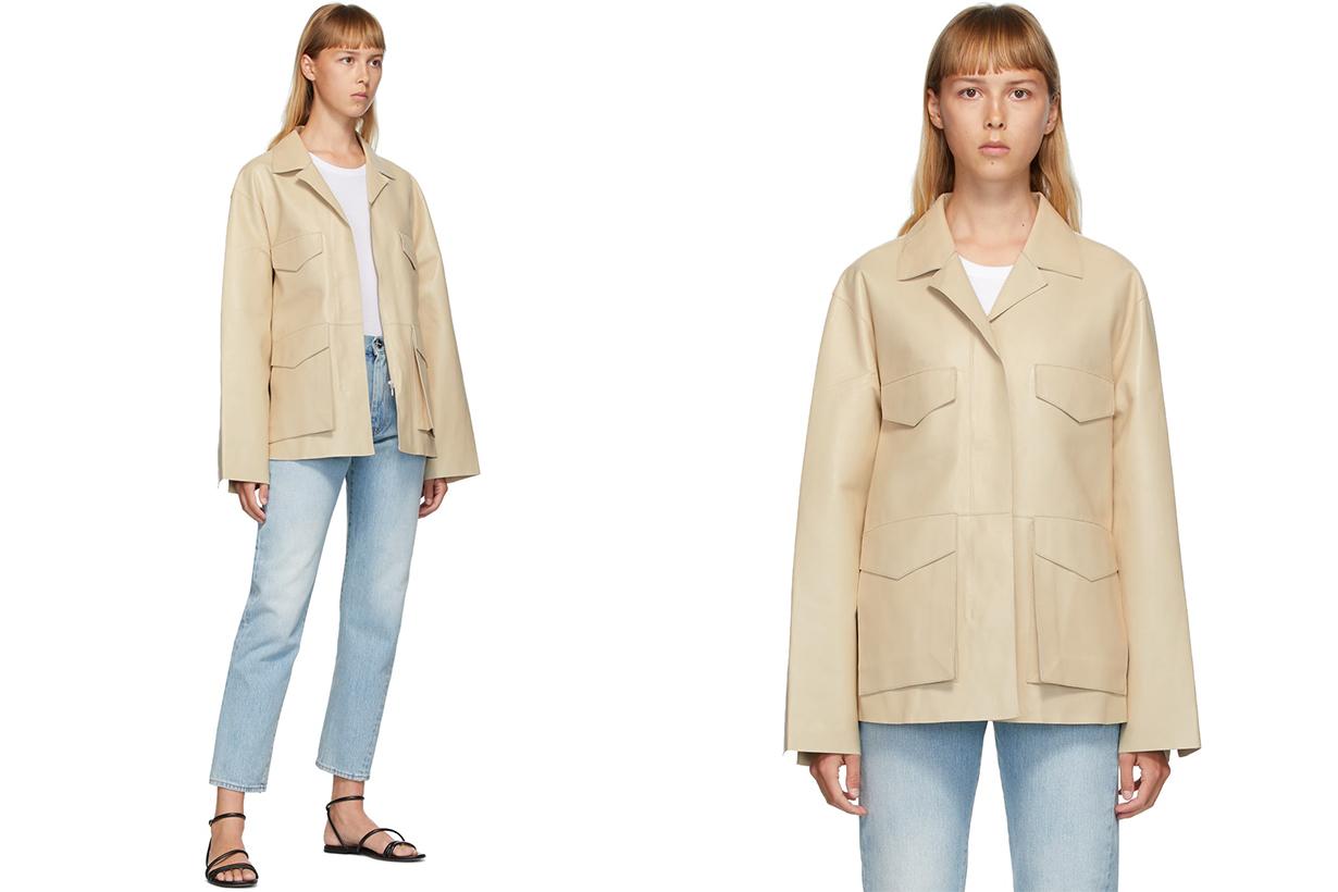 TOTÊME Off-White Leather Avignon Jacket