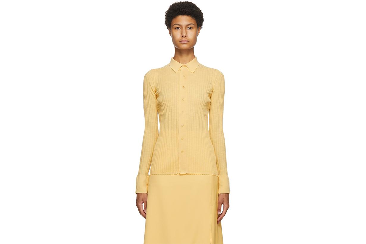 Yellow Sheer High-Gauge Shirt