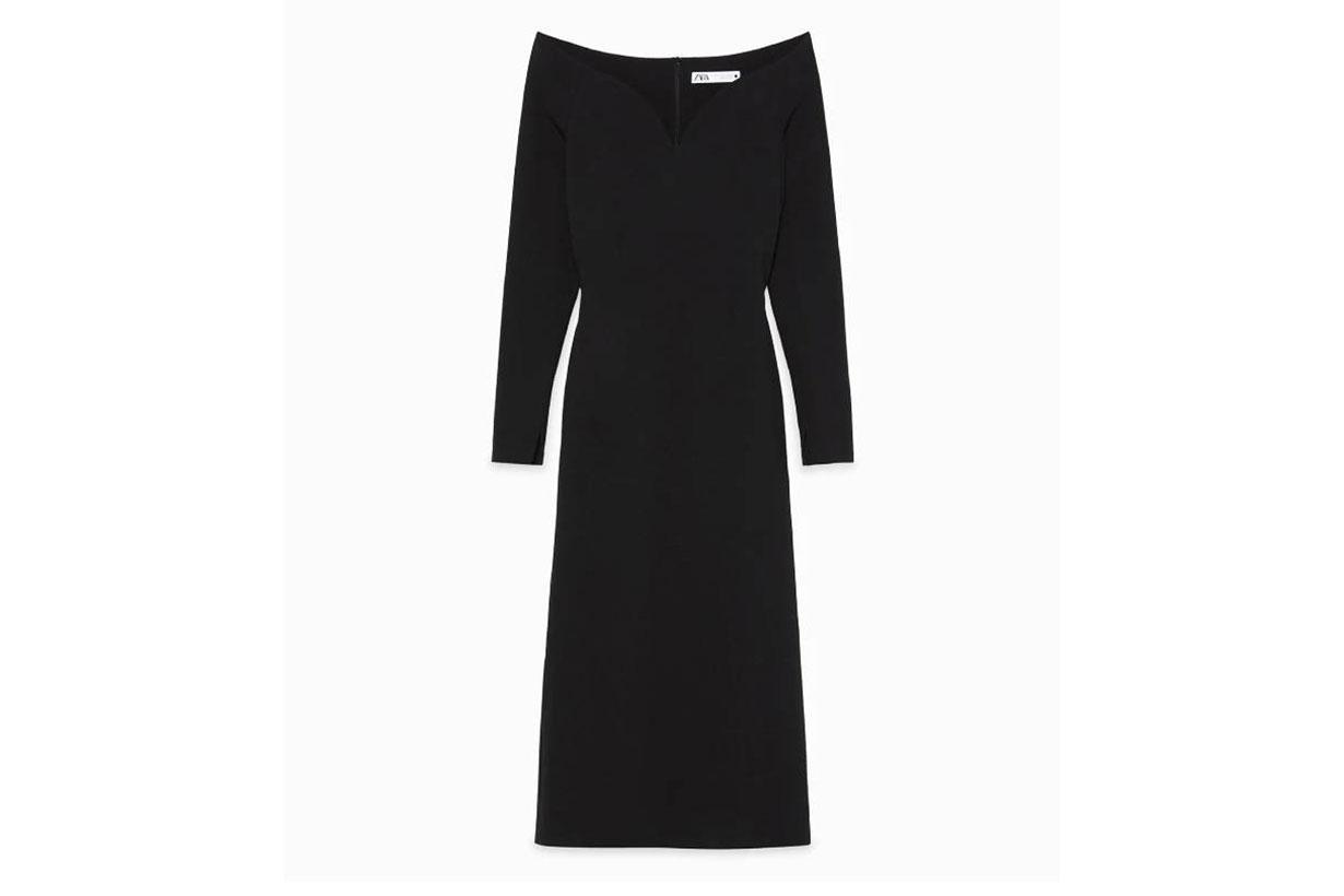 Zara Limited Edition Sweetheart Neckline Dress