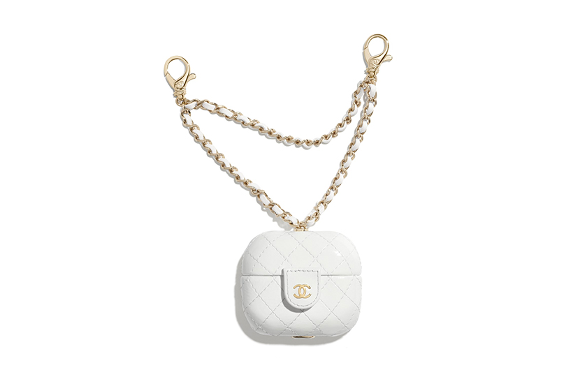 Chanel 2020 fw White Handbags AirPods Case